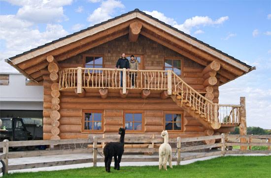 Interesse an einer Übernachtung im Holzblockhaus mit Alpakawanderung ?