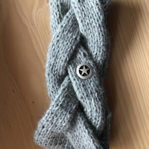 Alpaka Stirnband mittelgrau 210